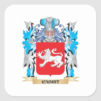 Cabrit Coat of Arms - Family Crest Square Sticker