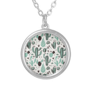 Cacti Silver Plated Necklace