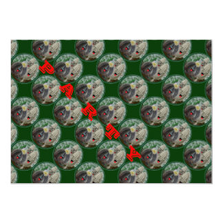 Cactus and friends 13 cm x 18 cm invitation card