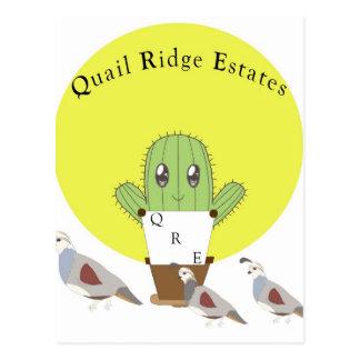 Cactus and Quails Postcard
