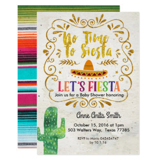 Cactus Baby shower Invitation Gold