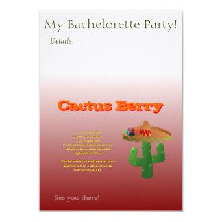 Cactus Berry Drink Recipe 13 Cm X 18 Cm Invitation Card