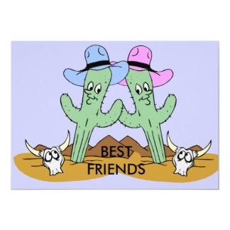Cactus Best Friends 5x7 Paper Invitation Card