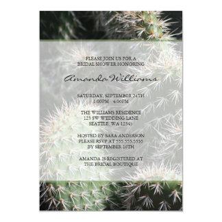 Cactus Bridal Shower 13 Cm X 18 Cm Invitation Card