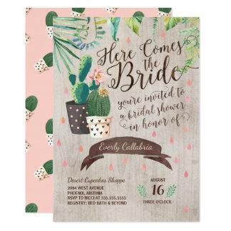 Cactus Bridal Shower Invitation - Desert Chic