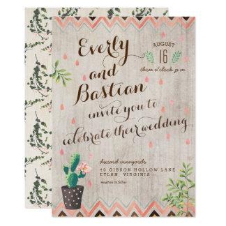 Cactus Desert Wedding Invitations
