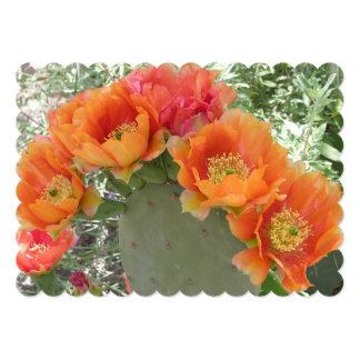 Cactus Flower 13 Cm X 18 Cm Invitation Card