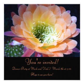 Cactus Flower Invite