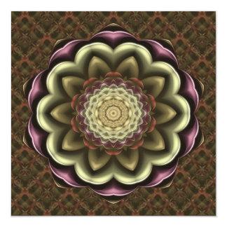 Cactus Flower Kaleidoscope Mandala Custom Invitation