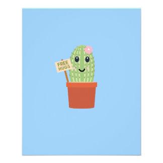 Cactus free hugs 11.5 cm x 14 cm flyer