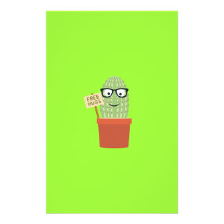 Cactus free hugs 14 cm x 21.5 cm flyer