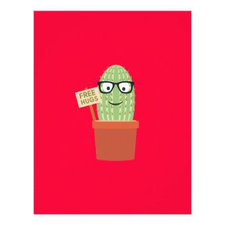 Cactus free hugs 21.5 cm x 28 cm flyer