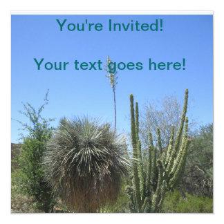 Cactus Garden 13 Cm X 13 Cm Square Invitation Card