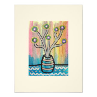 Cactus Plant ACEO collectible affordable art Custom Invitation