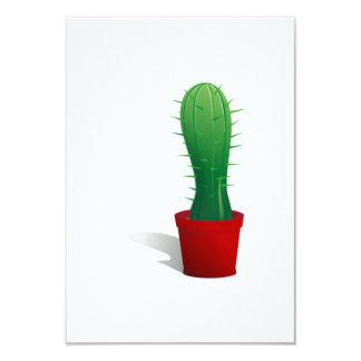 Cactus Plant 9 Cm X 13 Cm Invitation Card