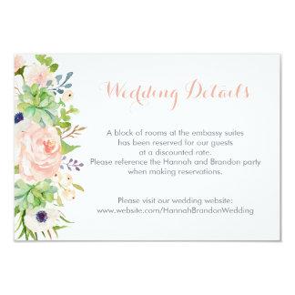 Cactus Succulents Wedding Details Insert Card