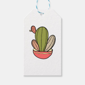 Cactus vector illustration. Hand drawn. Cactus pla Gift Tags