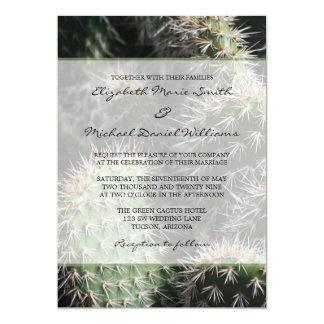 Cactus Wedding 13 Cm X 18 Cm Invitation Card