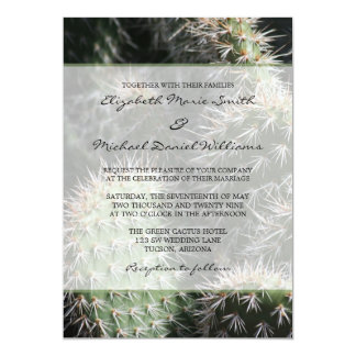 Cactus Wedding Personalized Invitation