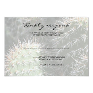 "Cactus Wedding Response Card 3.5"" X 5"" Invitation Card"