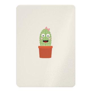 Cactus with ribbon 13 cm x 18 cm invitation card