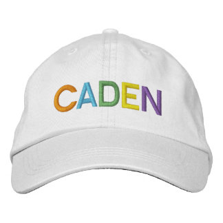 CADEN Colorful Embroidered Name on Hat Embroidered Hat