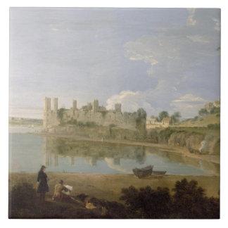 Caernarvon Castle, c.1745-50 (oil on canvas) Tile