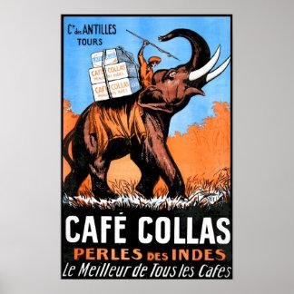 Cafe Collas Vintage Poster