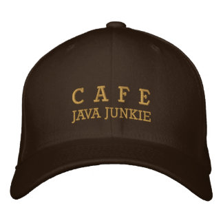 Cafe Java Junkie Embroided Hat Embroidered Hat