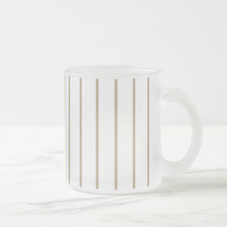 Cafe Latte Pinstripe Frosted Glass Mug