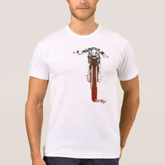 Cafe Racer Head-On Red Vintage Styled Motorcycle T-Shirt
