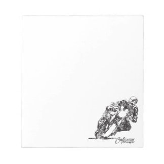 Cafe Racer Motorcycle Mean Lean Vintage Style Notepad
