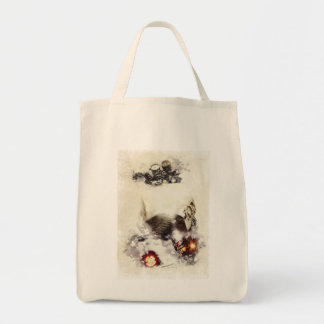 Cafe racer motorcycle tote bag