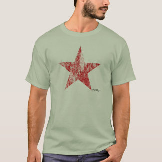 Cafe Racer Red Star Vintage Styled T-Shirt