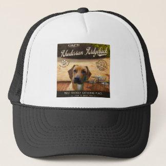 Cafe Rhodesian Ridgeback Trucker Hat