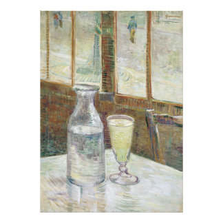 Cafe Table with Absinthe by Vincent Van Gogh Photographic Print