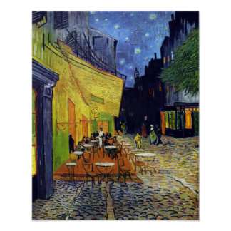 Cafe Terrace at Night by Vincent van Gogh 1888 Poster