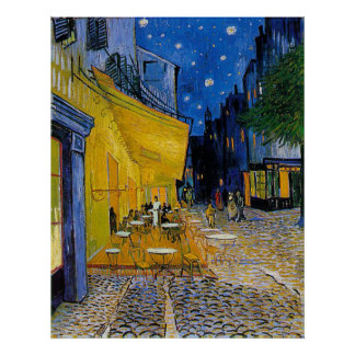 Cafe Terrace by Vincent van Gogh Poster