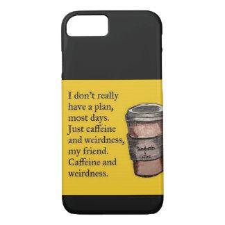 Caffeine and Weirdness iPhone 8/7 Case