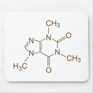 Caffeine Molecule Chemical Symbol Geek Nerd Mouse Mouse Pad
