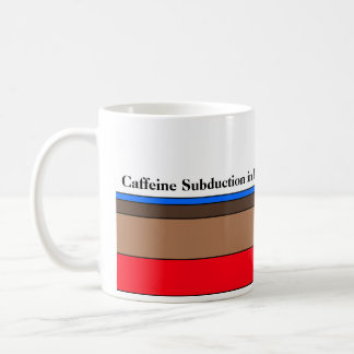 Caffeine Subduction in Progress Coffee Mug