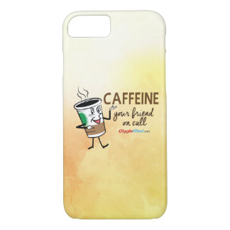 Caffeine, Your Friend on Call iPhone 7 Case