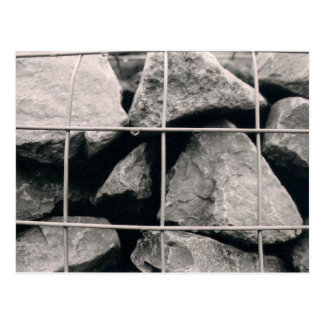 Caged Rocks Photo Design Postcard