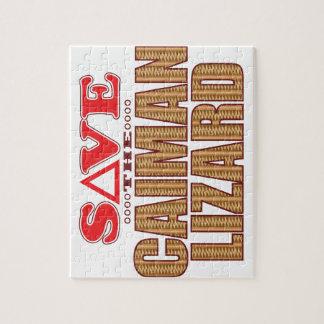 Caiman Lizard Save Jigsaw Puzzle