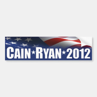 Cain Ryan 2012 Car Bumper Sticker