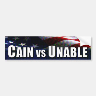 Cain vs Unable Car Bumper Sticker
