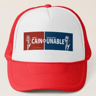 CAIN vs UNABLE Herman Cain 2012 Trucker Hat