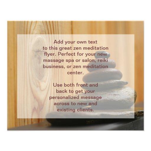 Cairn Meditation Stones Full Color Flyer