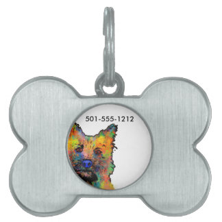 Cairn Terrier Dog Pet Name Tag