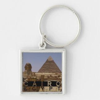 Cairo Egypt Souvenir Silver-Colored Square Key Ring